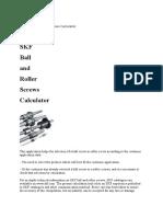 SKF Ball and Roller Screws Calculator.docx