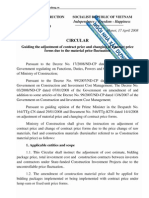 Translation of Circular 09-2008-TT-BXD - Guiding for Material Price Adjustment