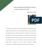 Unamuno y La Intelectualidad Protestante en El Perú