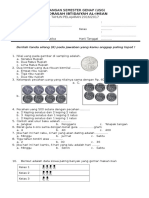 Contoh Soal USG Kelas 2 SD/MI