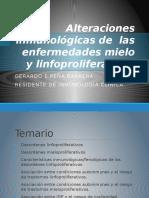 Enfermedades Autoinmune y Linfo y Mieloproliferativas