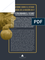 Informe Sobre El Estado Social de La Nación