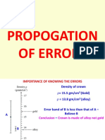 Uncertainty and Propogation of Errors