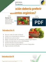 ¿La Población Debería Elegir Alimentos Orgánicos
