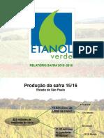 Etanol Verde Relatório Safra 2015 2016 2