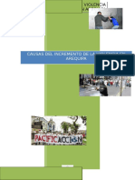 Causas Del Incremento de La Violencia en Arequipa