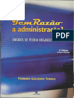 Tem Razão a Administração - Fernando Guilherme TENÓRIO - Livro