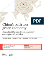 Chine's Path to a Green Economy