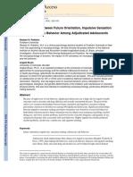 Future Orientation and Risk Behaviors