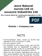 Reliance Natural Resources Ltd vs Reliance Industries Ltd