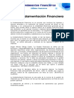 Fundamenta c i on Financier A