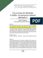 Calabrese Las revistas de Aberlardo Castillo