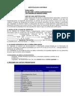 Modelo Certificacion Para INCAA