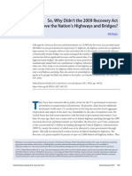 So Why Didnt the 2009 Recovery Act Improve the Nations Highways and Bridges