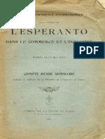 L'Espéranto Dans de Le Commerce Et l'Industrie - Chambre de Commerce de Paris 1925