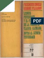 Engels, Plejanov - L. Feuerbach y El Fin de La Filosofía Clásica Alemana, P. y P., Córdoba, 1975