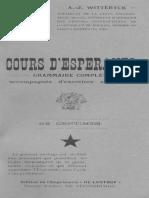Cours d'Esperanto - Witteryck