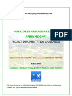 MUSK DEER Gurase National Park  Press For Peace s`Initial Assessment Report