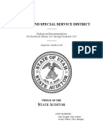 Canyon Land Special Service District audit