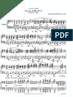 Brahms - Op  10 - Ballade 2