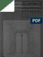 Norberg Schulz - Arquitectura Occidental. Cap II y III