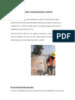Trazo y Excavación de La Zapata