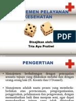 Manajemen Pelayanan Kesehatan (Tugas Pak Tabrani)