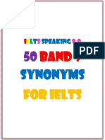 50 Band 9 Synonyms for Ielts