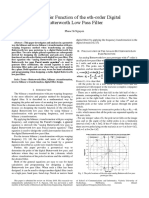 The Transfer Function of the nth-order Digital Butterworth Low Pass Filter