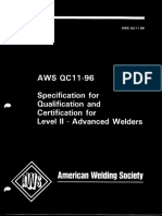 AWS QC 11-96 Spec 4 Qualification Certification Advanced Level Welder