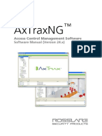 AxTraxNG™ Software Installation and User Manual v03 - 100614 - English