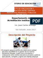 Proyecto de Vinculación y Colaboración Entre Centros Educativos Final Enero 2017