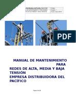 Manual de Mantenimiento Para Redes de Alta Media y Baja Tensión