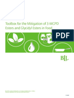 BLL-Toolbox for the Mitigation of 3-MCPD Esters and Glycidyl Esters in Food