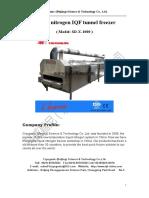 Iqf Tunnel Freezer,1000kg Per Hour Capacity