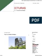 ARQUILECTURAS- Top 5 en Ciudades Ecológicas
