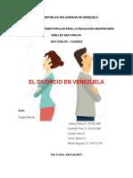 Dcho Civil IV El de Divorcio en Venezuela