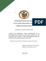 """""""TÉCNICA DE STRETCHING, COMO COADYUVANTE EN EL TRATAMIENTO DE CERVICALGIA MECÁNICA CRÓNICA EN LOS PACIENTES QUE ACUDEN AL ÁREA DE REHABILITACIÓN DEL PATRONATO DE AMPARO SOCIAL LATACUNGA""""."""