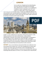 London's History,Climate,Religion, Governance, Economy,Education,Transport and Culture