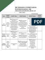 JNTUK B.tech 4-2 Sem (R13) Time Table 2017