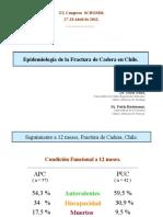 Epidemiología de la Fractura de Cadera en Chile.
