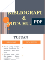 Bibliografi Dan Nota Hujung