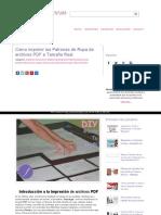 Como Imprimir Los Patrones de Ropa de Archivos PDF a Tamano Real