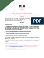 Bases Postulacion Becas de PostDoctorado Ambassade de France ESP