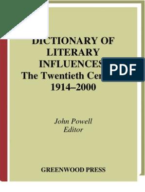 Dictionary of Literary Influences | Provisional Irish