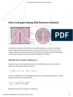 Heat Exchanger Rating (Bell-Delaware Method) – ChE Guide