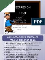 Didáctica de La Expresión Opral
