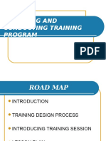 Designing and Conducting Training Program