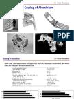 Casting of Aluminium
