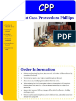 Menu CPP Private Flights Catering